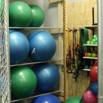 Our supply of exercise equipment.