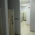 Locker rooms.
