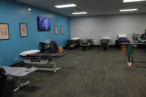 Another view of the physical therapy department.